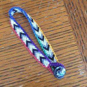 Handmade Rainbow Border Bracelet